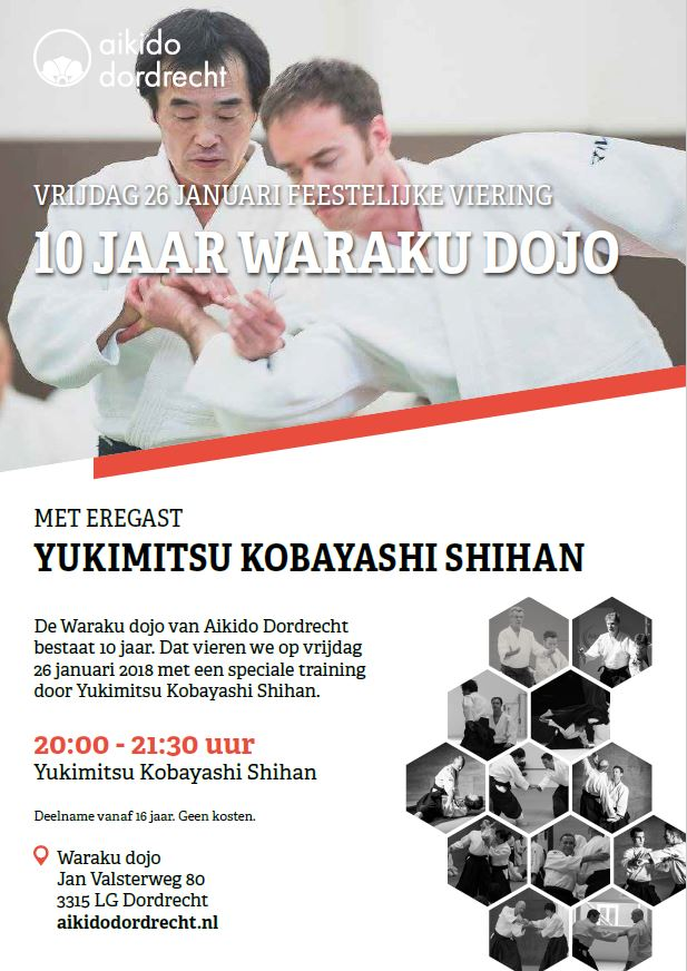 Waraku dojo Dordrecht 10 jaar 26 januari 2018